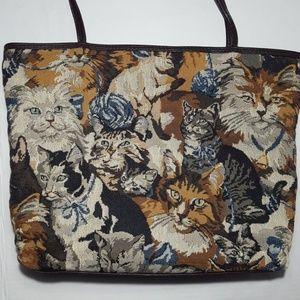 😻 Vintage Cat Carpet Bag 😻